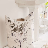 Marble Standing Laundry Bag Hamper | Urban Outfitters