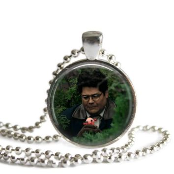 What We Do In The Shadows Guillermo 1 Inch Silver Plated Pendant Necklace Handmade