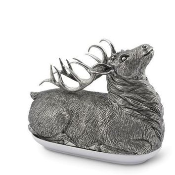 Pewter Stag Butter Dish