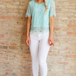 THE AGE OF LACE TOP - AQUAMARINE