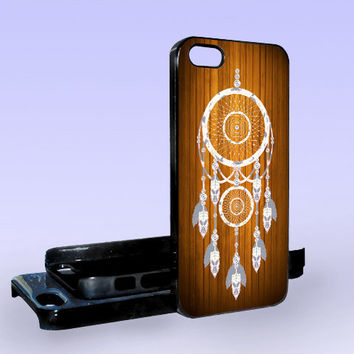 Wood Dreamcatcher - Print on Hard Cover - iPhone 5 Case - iPhone 4/4s Case - Samsung Galaxy S3 case - Samsung Galaxy S4 case
