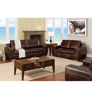Miley Contemporary Sofa and Loveseat Set