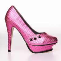 Iron Fist Number The Beast Platform Shoe - Pink/ Black (Vegan) - Punk.com
