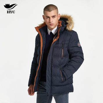 HAI YU CHENG Winter Coat Male Windbreaker Quilted Puffer Jacket Mens Winter Parkas Military Jacket Male Coat Parka Anorak 7700