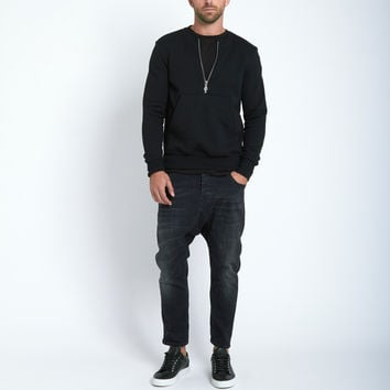 Beautiful Fül Half Zip Crew Sweatshirt in Black