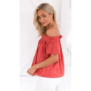 New Women Off The Shoulder Short Sleeve Sheer Blouse