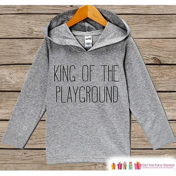 Kids School Outfit - King of the Playground - Back to School Outfit - Kids Hipster Top - Kids Hoodie - Kids School Outfit for Toddler Boys
