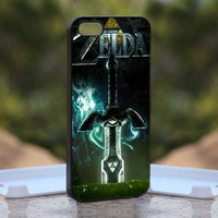 the legend of zelda sword MQL0116 - Design available for iPhone 4 / 4S and iPhone 5 Case - black, white and clear cases