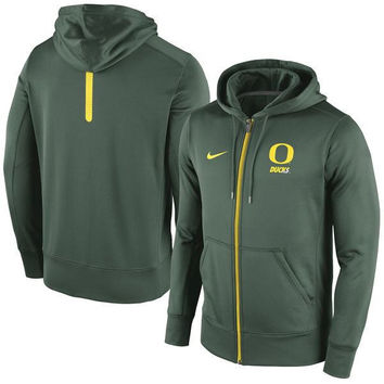Oregon Ducks Nike Sideline Hooded Full Zip Sweatshirt Therma-Fit Performance NWT