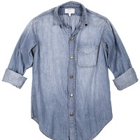 Current Elliott Prepschool Shirt - Denim Top - ShopBAZAAR