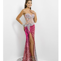 (PRE-ORDER) Blush 2014 Prom Dresses - Pink Sequin Ombre Prom Gown