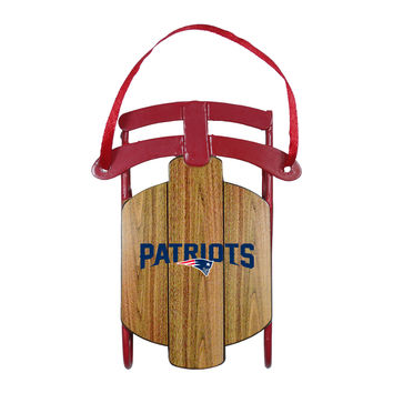 New England Patriots Ornament - Metal Sled