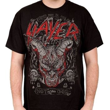"""Slayer DEMON HEAD """"NOT OF THIS GOD"""" T-Shirt NEW Licensed & Official S-4XL RARE!!"""