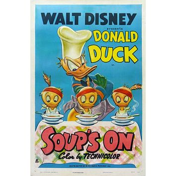 Vintage Donald Duck Movie Poster// Classic Disney Movie Poster//Movie Poster//Poster Reprint//Home Decor//Wall Decor//Vintage Art