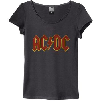 AC/DC  Logo Junior Top Charcoal
