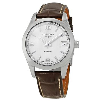 Longines Conquest Automatic Silver Dial Ladies Watch L2.385.4.76.3