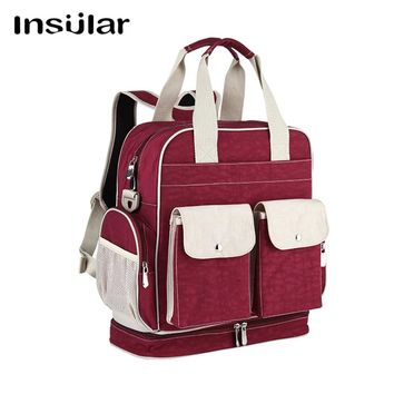 Mother infanticipate color blue mummy Baby mom bags fashion Diaper nappy maternity bag multifunctional double-shoulder bag XNC