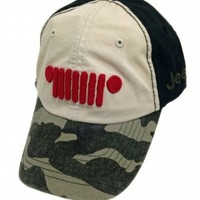Jeep Red Grille and Camo Visor Cap | Hats & Caps | Jeep Apparel | My Jeep Accessories