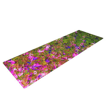 "Ebi Emporium ""Beyond the Horizon"" Pink Green Yoga Mat"