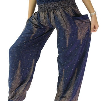 Boho pants / Peacock pants / Hippie pants one size fits