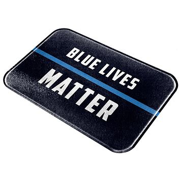 Police Blue Lives Matter Thin Blue Line All Over Glass Cutting Board