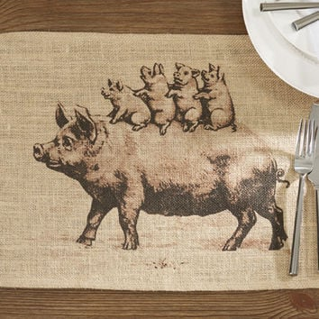 Loon Peak Haugan Burlap Placemat (Set of 4)