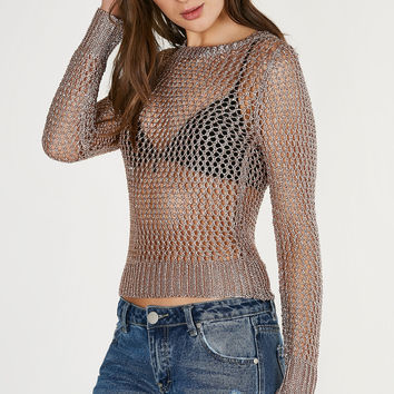 Light Of My Life Metallic Top