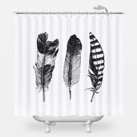 Feathered Trio Shower Curtain
