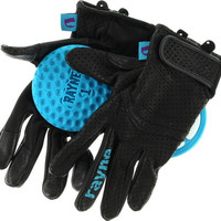 Rayne High Society V2 Slide Gloves Large Black/Cyan