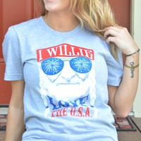Willie Love The USA Tee