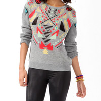 Intarsia Geo Sweater | FOREVER21 - 2021840997