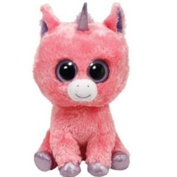Ty Beanie Boos Magic Plush - Pink Unicorn, Medium