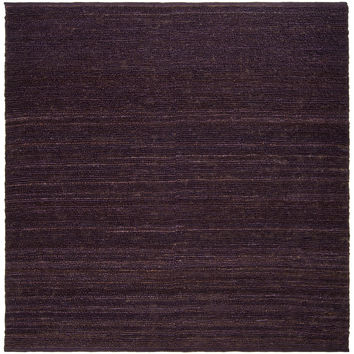 Hand-woven Purple Bobwhite Natural Fiber Jute Rug (8' Square) | Overstock.com Shopping - The Best Deals on Round/Oval/Square