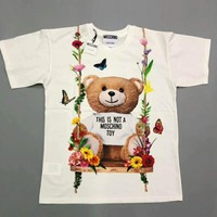Moschino cotton printed autumn bear