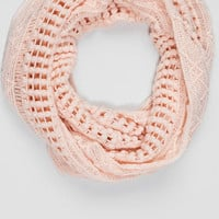 Lakota Knit Loop Scarf In Pink