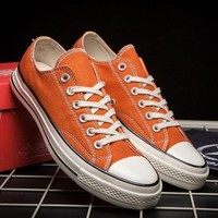 One-nice™ Converse Casual Sport Shoes Sneakers Shoes Orange I