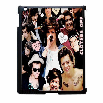 Harry Styles One Direction Collage Clothes Off iPad 4 Case