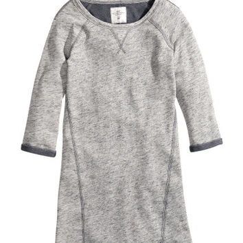 H&M - Sweatshirt Dress - Gray - Ladies