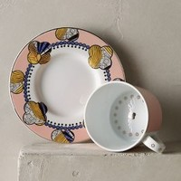 Cliveden Cup & Saucer by Anthropologie in Coral Size: Cup & Saucer Dinnerware