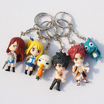 Anime Cartoon Fairy Tail Action Figure Toy Model Dolls Great Gift 6cm Approx