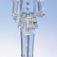 "11.75"" Icy Crystal Christmas Nutcracker Soldier Holding Drum"