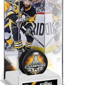 Bonino Penguins 2017 Stanley Cup Champs Tall Hockey Puck Case - Fanatics
