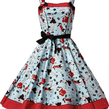 Rockabilly Vintage 50's Retro Pin-Up Girls and Stars Art Dixie Swing Dress