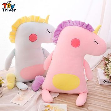 Plush Unicorn Horse Toy Stuffed Animal Baby Kids Girl Gift Children's Appease Toys Sofa Pillow Cushion Bolster Home Decoration