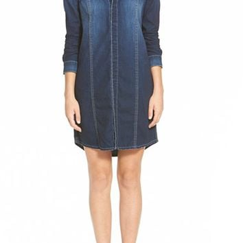 Women's Hudson Jeans 'Tricia' Denim Utility Shirtdress,