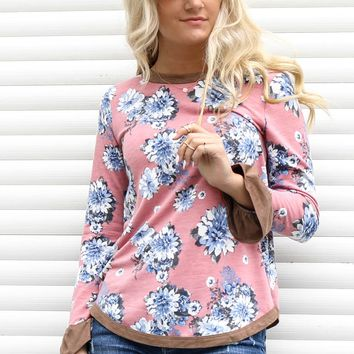 Back To You Mauve Floral Print Top