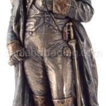 Napoleon Standing French Emperor Portrait Sculpture, Bronze Finish 10.75H