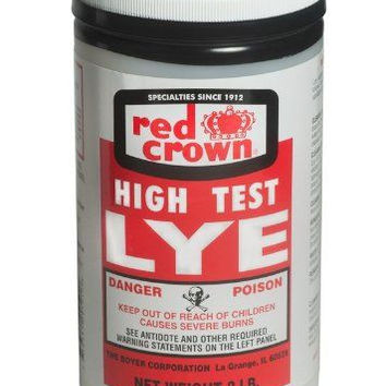 Red Crown High Test Lye for Making Soap (non-food grade)