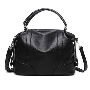 European Style  PU Leather Female Tote Bag Fashion Women Shoulder Bag Litchi Pattern Solid Ladies Cross Body Bags