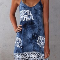 Elephant Print Dress - Dresses - Shop by Product - Womens